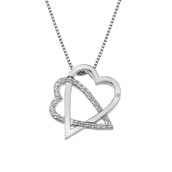 Купить Серебряный кулон Hot Diamonds с бриллиантом и белыми топазами DP693