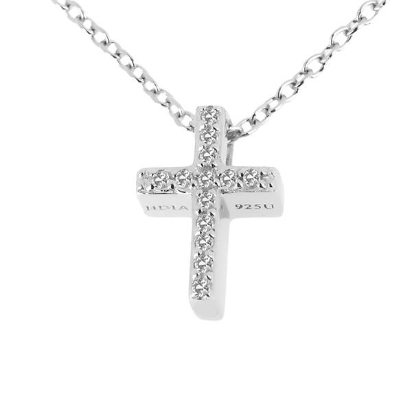 Купить Серебряный кулон Hot Diamonds с бриллиантом и белыми топазами DP696