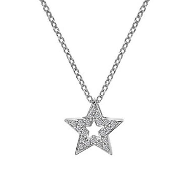 Купить Серебряный кулон Hot Diamonds с бриллиантом и белыми топазами DP697