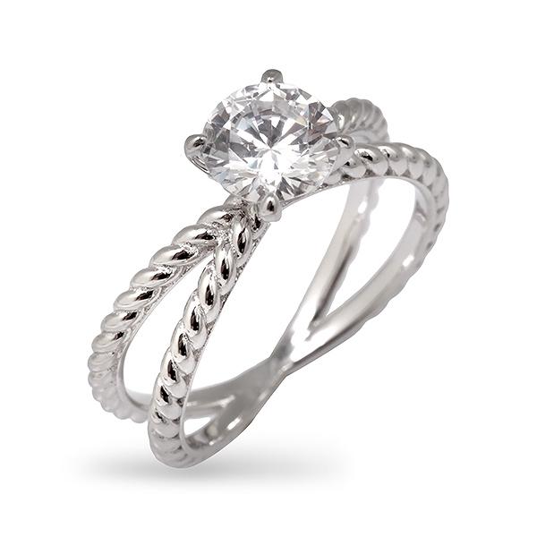Купить со скидкой Серебряное кольцо Sandara Ice с фианитом EDR049