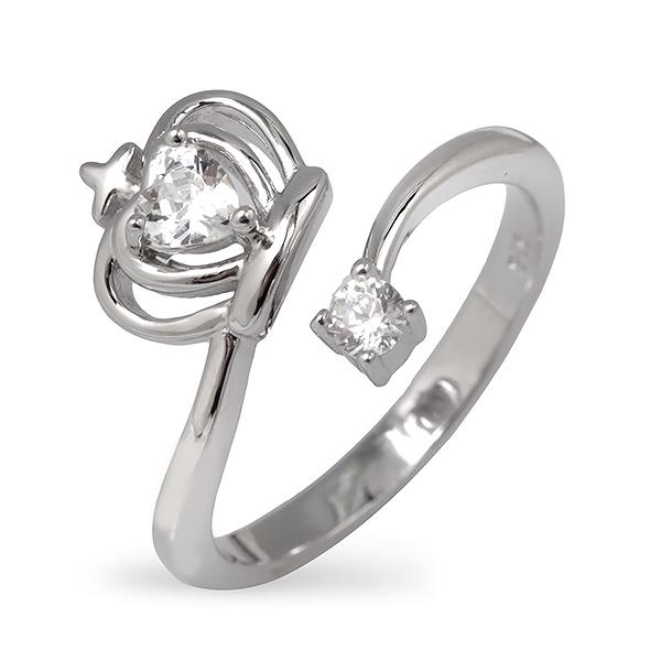 Купить Серебряное кольцо Sandara Ice с фианитом EDR061