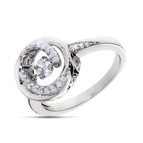Купить Серебряное кольцо Sandara Ice с танцующим фианитом EDR165