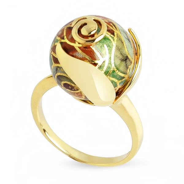 Купить Серебряное кольцо с акрилом JSR1171-1, Японские цветы