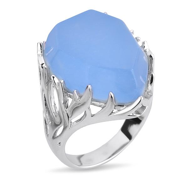 Купить Серебряное кольцо Joli с голубым кварцем JSR285