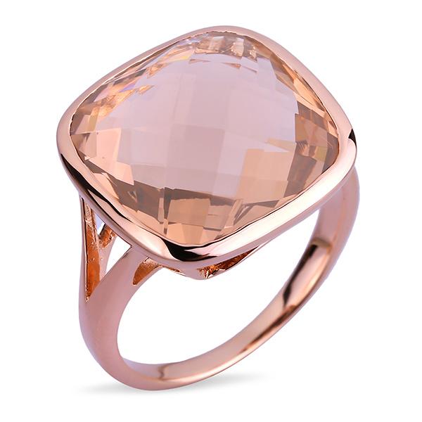 Купить со скидкой Серебряное кольцо Joli с фианитом и позолотой JSR310