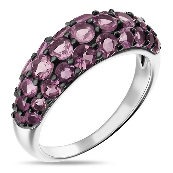 Купить со скидкой Серебряное кольцо Sandara с аметистами LSR073