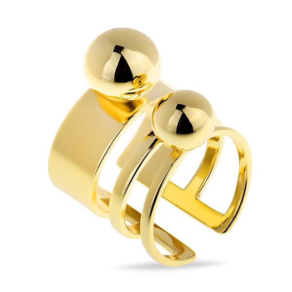 Купить со скидкой Шикарное кольцо из латуни с позолотой MJR037B