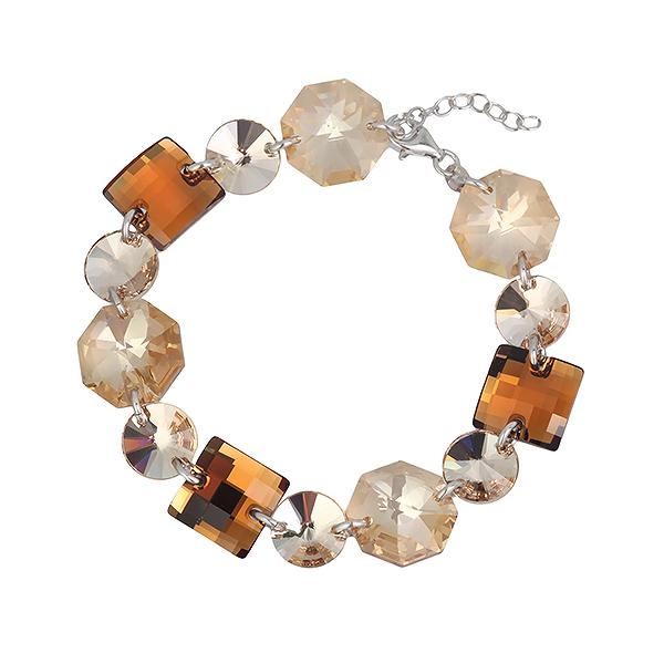 Купить со скидкой Серебряный браслет Monella с кристаллами Сваровски MOB0152Y