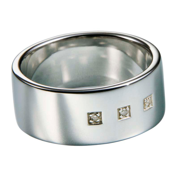 Купить со скидкой Мужское серебряное кольцо Hot Diamonds с бриллиантами MR021