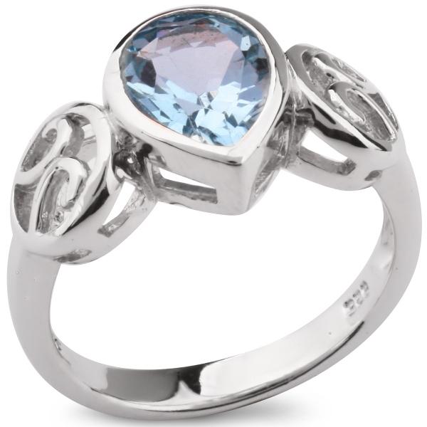 Купить со скидкой Серебряное кольцо Sandara с голубым топазом NANR4684BT