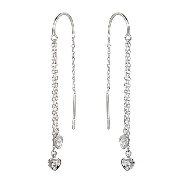 Купить Серебряные серьги Sandara Ice с фианитами PJE223