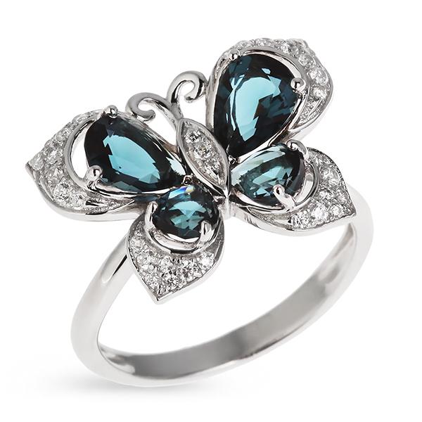 Купить Серебряное кольцо с топазом и фианитами PJR083, Sandara Ice