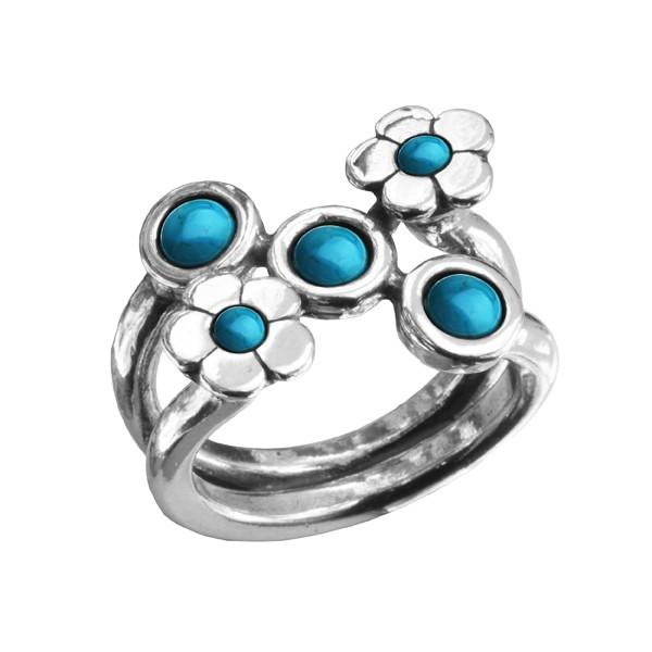 Купить Серебряное кольцо Shablool с бирюзой R210TU