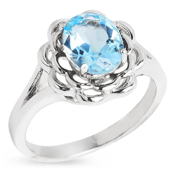 Серебряное кольцо Sandara с топазом RNR082  - купить со скидкой