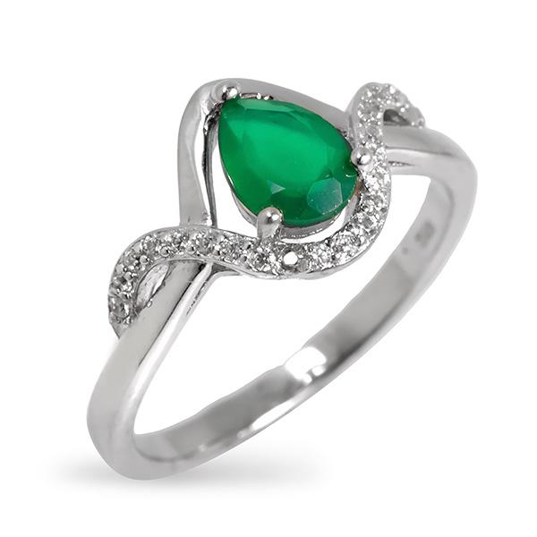Купить Серебряное кольцо Sandara с зеленым агатом RNR108