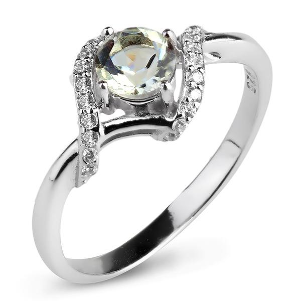 Серебряное кольцо Sandara с аметистом и фианитами RNR338 - Женские украшения