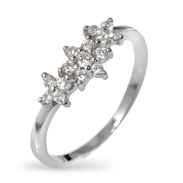 Купить со скидкой Серебряное кольцо с фианитами SGR326