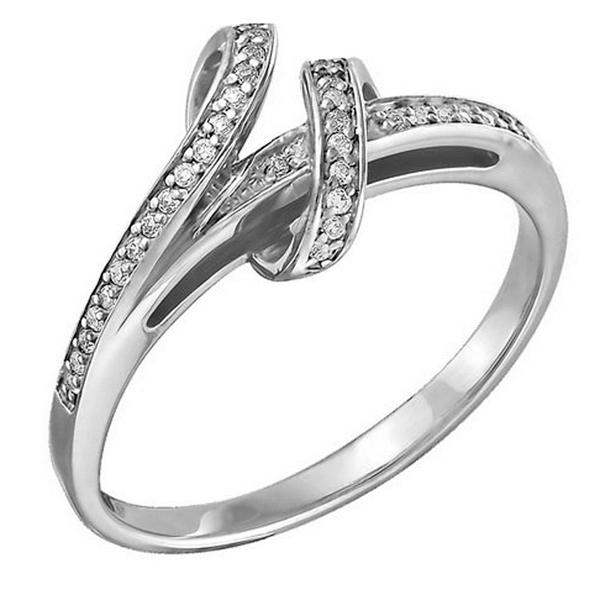 Купить со скидкой Серебряное кольцо с фианитом Z1-8483