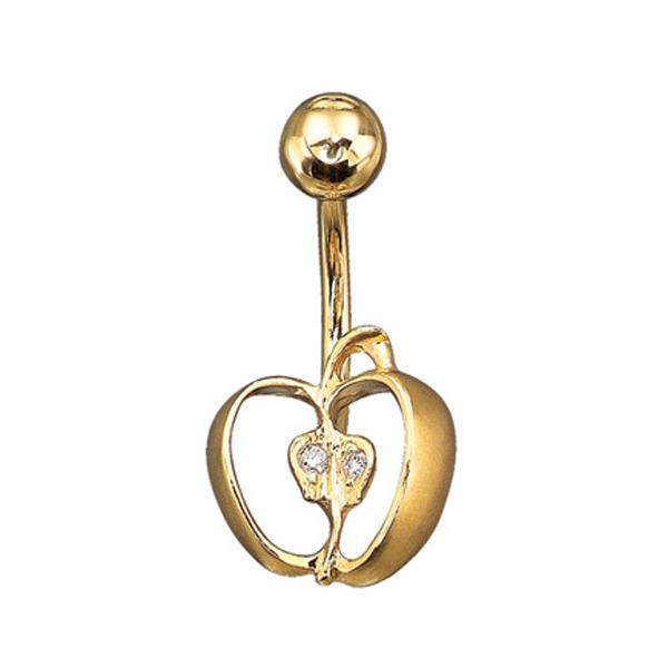 Купить со скидкой Золотой пирсинг Aldzena с бриллиантами PR-11013