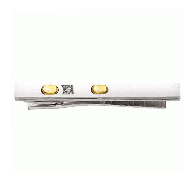 Купить со скидкой Золотой зажим для галстука Aldzena с бриллиантом Z-34001
